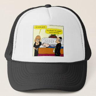 898 He looks good funeral cartoon Trucker Hat