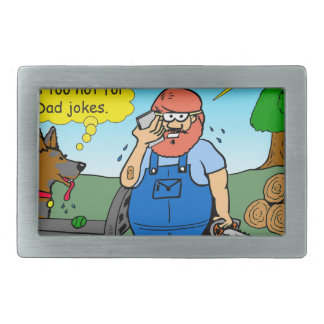 899 111 in front yard bad dad joke cartoon belt buckles