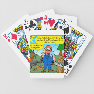 899 111 in front yard bad dad joke cartoon bicycle playing cards