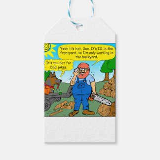 899 111 in front yard bad dad joke cartoon gift tags