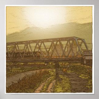89: Keikyu Tama River Bridge/Rokugo Poster