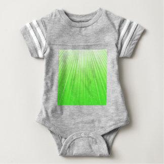 89Green Rays_rasterized Baby Bodysuit