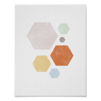 """8.5"""" x 11"""", Colorful Shape Poster"""