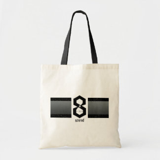 8 a-Bit Scared Sporty 8 Ball Geek Chic Tote Bag