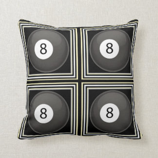 8-Ball Billiard Throw Pillows