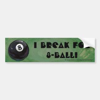 8 Ball Car Bumper Sticker
