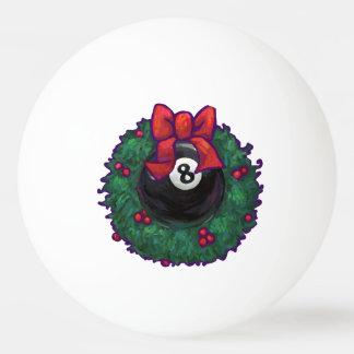 8 Ball Christmas Wreath Green Ping-Pong Ball
