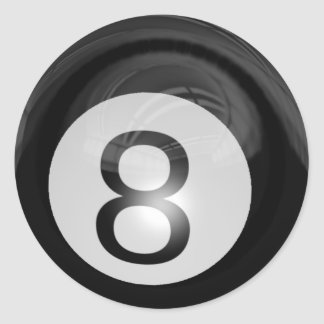 8 Ball Classic Round Sticker
