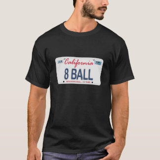 8 Ball License Plate T-Shirt