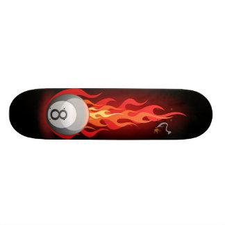 8 Ball On Fire Skate Decks
