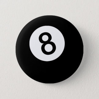 8 Ball or Black Ball 2 Inch Round Button