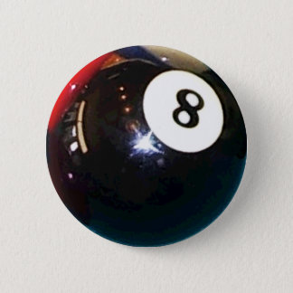 8-Ball Pool Ball Badge Pin Button