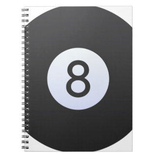 8 Ball Spiral Note Books