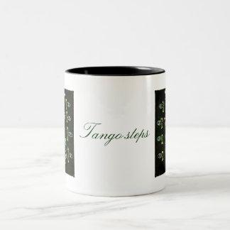 8 basic steps black Two-Tone coffee mug