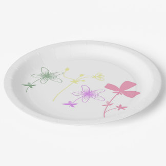 """8 Beautiful Paper Plates 9"""" 9 Inch Paper Plate"""
