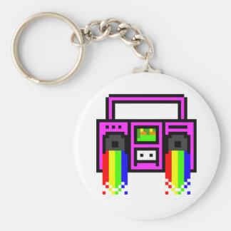 8 Bit Boom Box Keychain