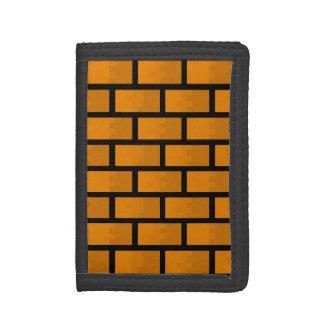 8 Bit Brick Wall Tri-fold Wallets