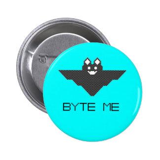 8-Bit Byte Me Cute Vampire Bat  Pixel Art 2 Inch Round Button