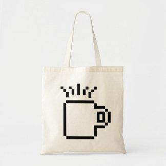 8 Bit Coffee Budget Tote Bag