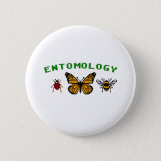 8-Bit Entomology 2 Inch Round Button