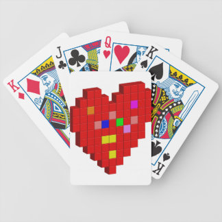 8-Bit Heart Bicycle Playing Cards