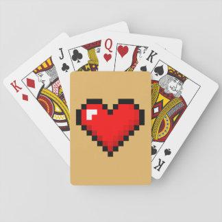 8-Bit Heart: Classic Retro Gamer Playing Cards