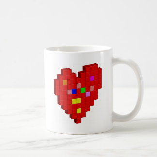 8-Bit Heart Coffee Mug