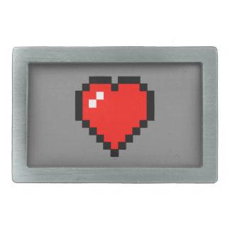 8 - Bit Heart (Full) Belt Buckles