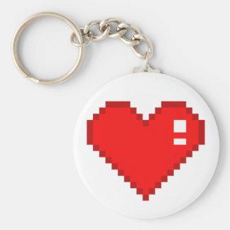 8 Bit Heart Keychain