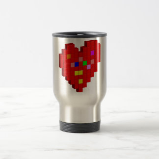 8-Bit Heart Travel Mug
