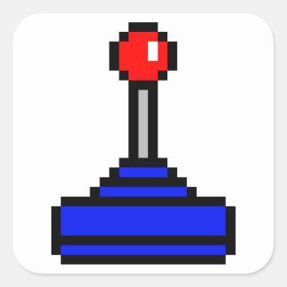 8 Bit Joystick Square Sticker