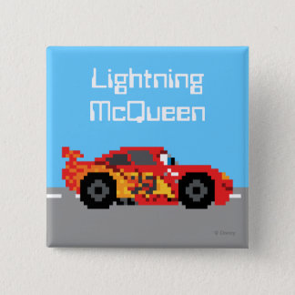 8-Bit Lightning McQueen 2 Inch Square Button