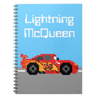 8-Bit Lightning McQueen Notebook