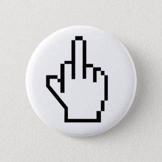 8-Bit Middle Finger 2 Inch Round Button