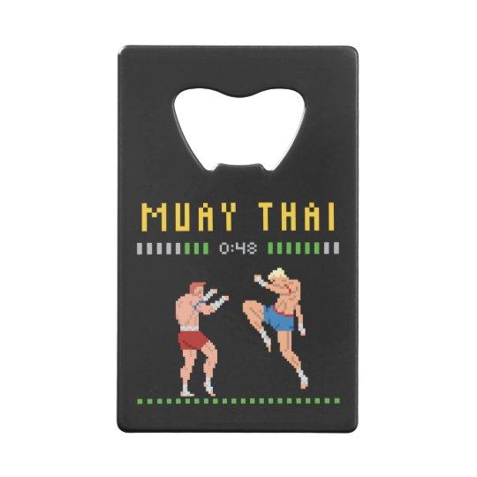 8-Bit Muay Thai Credit Card Bottle Opener