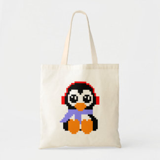 8 Bit Penguin Budget Tote Bag