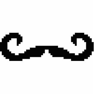 8 Bit Pixel Handlebar Moustache Photo Cutouts