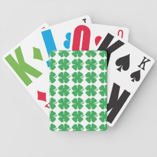 8 Bit Pixel Lucky Four Leaf Clover Bicycle Playing Cards