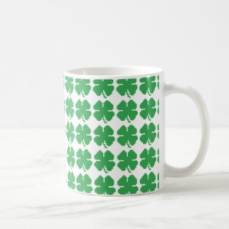 8 Bit Pixel Lucky Four Leaf Clover Coffee Mug