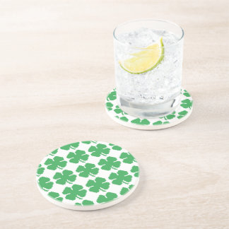 8 Bit Pixel Lucky Four Leaf Clover Drink Coasters