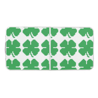 8 Bit Pixel Lucky Four Leaf Clover Pong Table