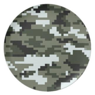 8 Bit Pixel Urban Camouflage Plates