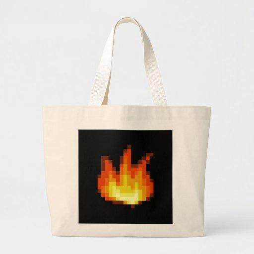 8 Bit Pixeled Fire Bags