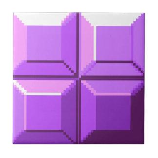 8-bit Purple Pixel Tile