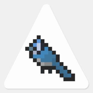 8-Bit Retro Bluejay Triangle Sticker