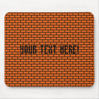 8-Bit Retro Brick, Orange Mouse Pad