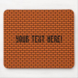 8-Bit Retro Brick, Orange Mousepads
