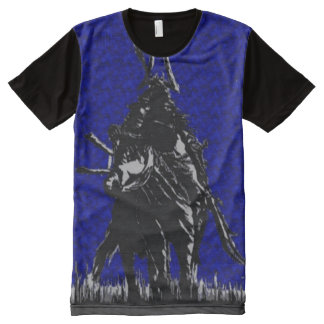 8-Bit Samurai Warrior Nes Style Fantasy Art All-Over-Print T-Shirt
