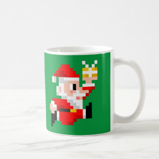 8-Bit Santa Claus Christmas Coffee Mug