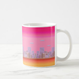 8-bit Skyline Coffee Mug
